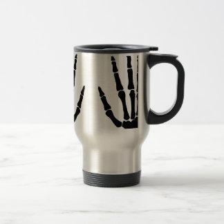 Bone Hands Isolated Travel Mug