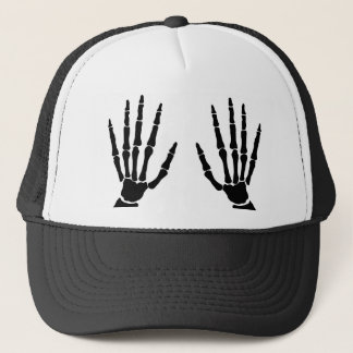 Bone Hands Isolated Trucker Hat
