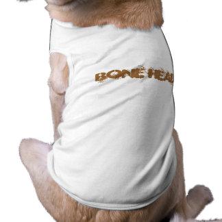"""BONE HEAD"" Doggy  Tee Doggie T-shirt"