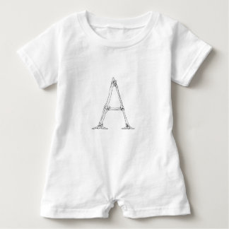 Bone Letter - A Baby Romper