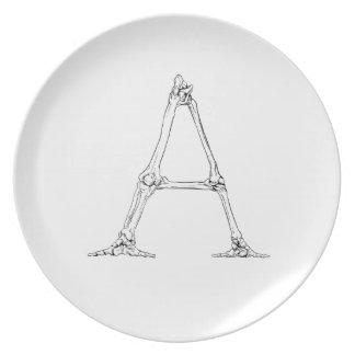 Bone Letter - A Plate