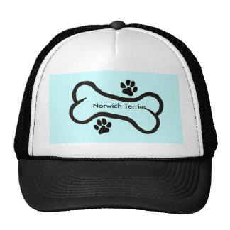 Bone & Pawprint Design with Norwich Terrier Text Trucker Hat