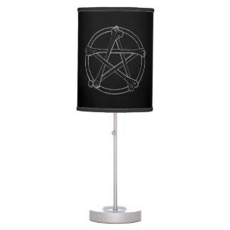 Bone Pentacle Table Lamp