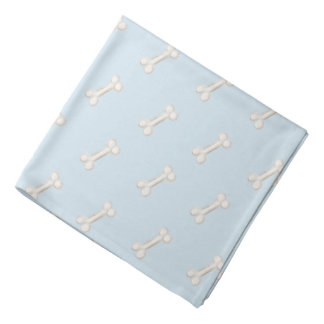 Bone Print For Dog Head Kerchiefs