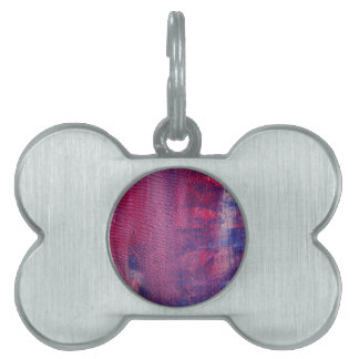 Bone tag with purple surface pet ID tags