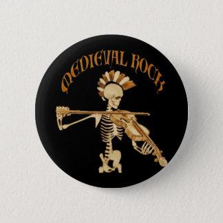 Bone violonist/Skeleton Fiddler - Medieval skirt 2 Inch Round Button