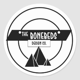 BoneBeds Round Logo Classic Round Sticker