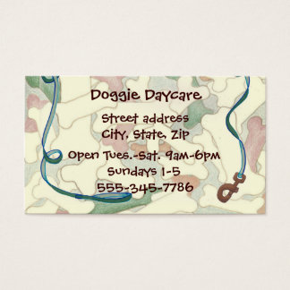 Bones and Leash Pet Dogs Business Card