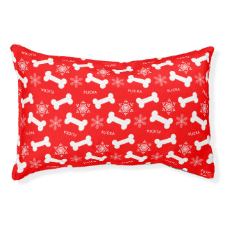 Bones and Snowflakes Doggy Winter Dream Customized Pet Bed