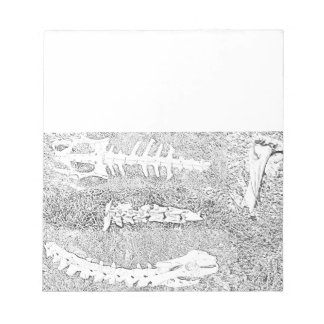 Bones Coloring Project DIY Adult Coloring Notepad