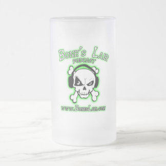 Bone's Lair Logo Frosted Glass Beer Mug