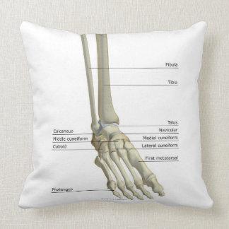 Bones of the Foot 6 Throw Pillows