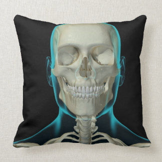Bones of the Head and Neck 2 Throw Pillow