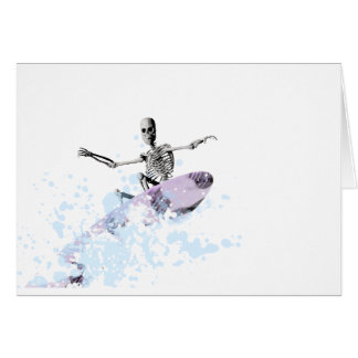 Bones on a surfboard card
