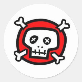 Bones Round Sticker