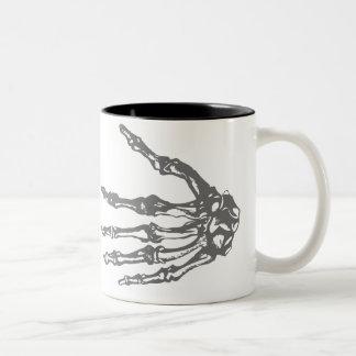 Boney Hands Two-Tone Coffee Mug