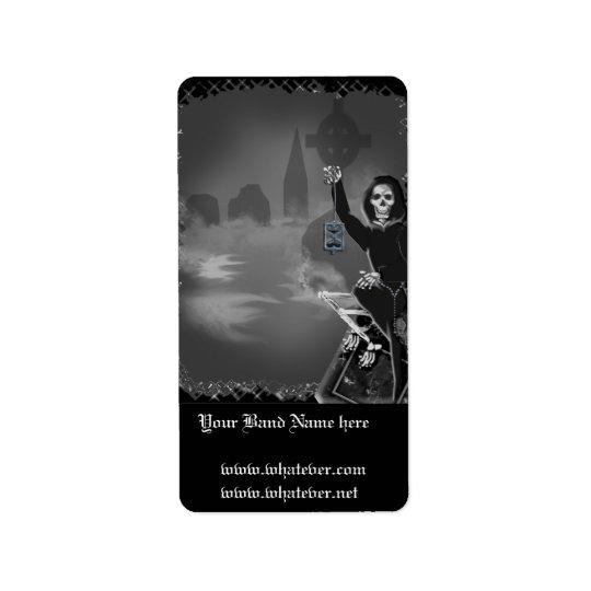 boneyard halloween label