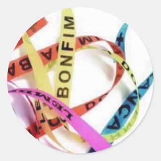 bonfim de bahia round sticker