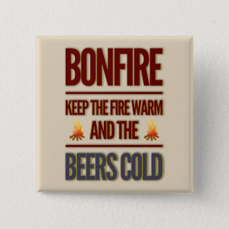 Bonfire 2 Inch Square Button