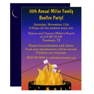 "Bonfire Outdoor Gathering 4.5"" X 6.25"" Invitation Card"