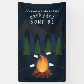 Bonfire Party Banner