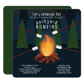 Bonfire Party Card