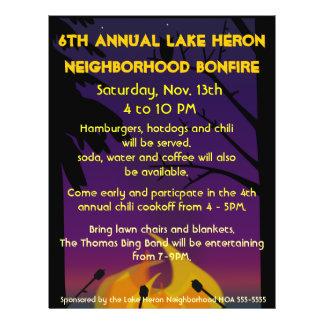 Bonfire Party Flyer