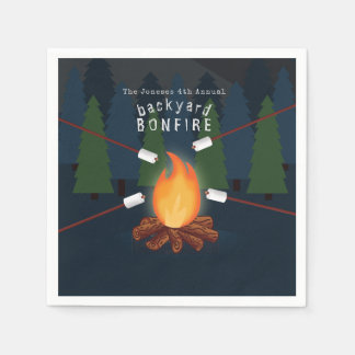 Bonfire Party Paper Napkin