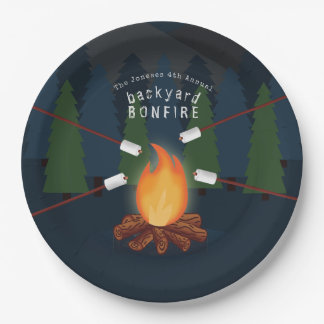 Bonfire Party Paper Plate