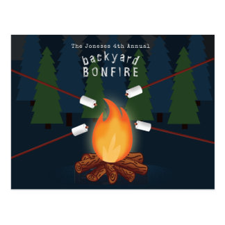 Bonfire Party Postcard