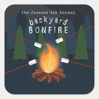 Bonfire Party Square Sticker