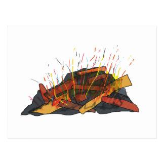 Bonfire Postcard