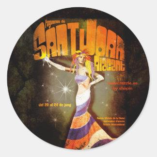 Bonfires of San Juan Alicante Classic Round Sticker