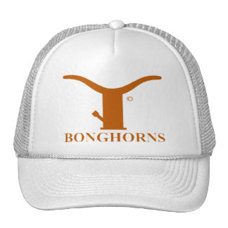 BONGHORNS HAT IN BURNT ORANGE