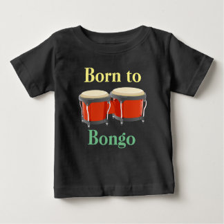 Bongo Drums on Baby Fine Jersey T-Shirt