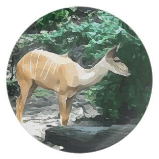 Bongo from Safari Dinner Plate