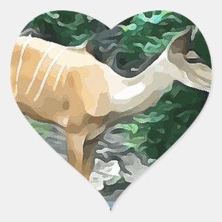 Bongo from Safari Heart Sticker