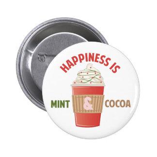 Bonheur en bon état de cacao macaron rond 5 cm