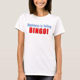 Bonheur hurlant le bingo-test t-shirt