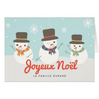 Bonhomme De Neige Carte de Noël Greeting Card