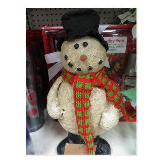 Bonhomme de neige dans l'écharpe et le casquette cartes postales