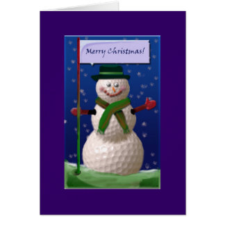 Bonhomme de neige de boule de golf pour l écrou de cartes de vœux