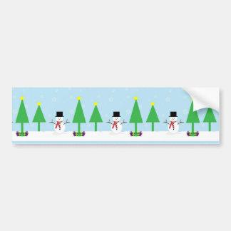 Bonhomme de neige de fête de Noël Autocollant De Voiture