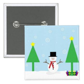 Bonhomme de neige de fête de Noël Pin's