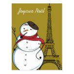 Bonhomme de neige de Joyeux Noël Cartes Postales