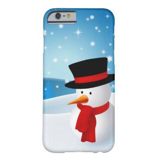 Bonhomme de neige mignon coque barely there iPhone 6