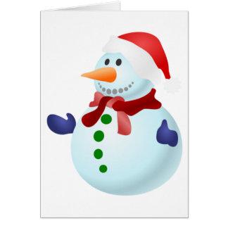 Bonhomme de neige mignon de Père Noël de Noël Carte De Correspondance