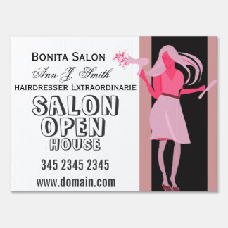 Bonita Salon Hair stylist Business Open House Sign