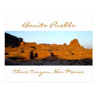 Bonito Pueblo Chaco Canyon at Sunset Postcard