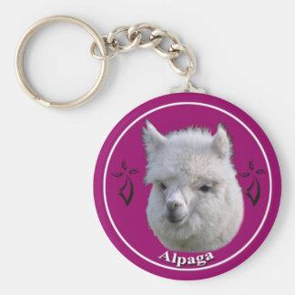 Bonito the alpaca keychain